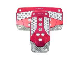 NRG Innovations PDL-450RD Aluminum Sport Pedal Red with Silver Carbon AT