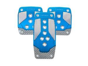 NRG Innovations PDL-400BL Aluminum Sport Pedal Blue with Silver Carbon MT