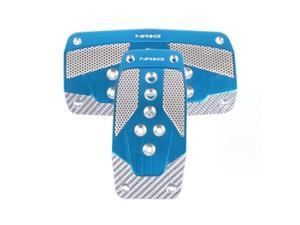 NRG Innovations PDL-450BL Aluminum Sport Pedal Blue with Silver Carbon AT