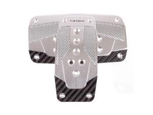 NRG Innovations PDL-450SL Aluminum Sport Pedal Silver with Black Carbon AT