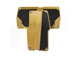 NRG Innovations PDL-150CG Brushed Aluminum Sport Pedal Chrome Gold with Black Carbon AT