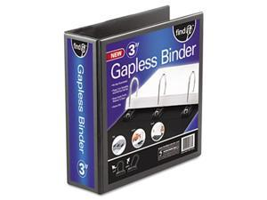 Ideastream FT07073 Gapless Loop Ring View Binder  11 x 8-1/2  3'' Capacity  Black