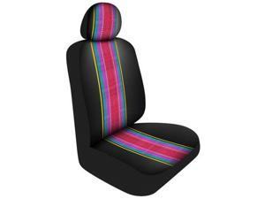 Pilot Automotive SC-525S-2 Saddle Print Seat Cover, Black & Multicolor