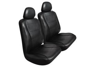 Pilot Automotive SC-450E Low Back Seat Cover Leather, Black