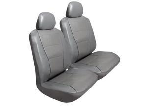 Pilot Automotive SC-450G Synthetic Leather Perforated Seat Cover, Gray