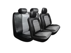 Pilot Automotive SC-5030E Super Sport Synthetic Leather Seat Cover Kit, Black & gray