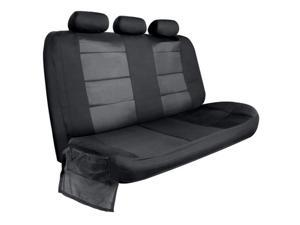 Pilot Automotive SCT-929E Canvas Rear Bench Seat Cover with Side Flaps, Black
