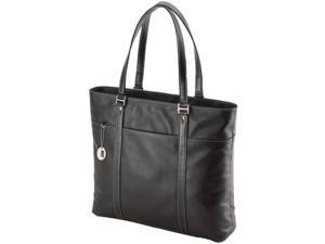 Mobile Edge MBLMETL01 Notebook Ultra Tote, Black Leather - 15 - 17.3 in.