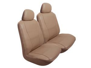 Pilot Automotive SC-450T Perforated Synthetic Leather Seat Cover - Tan Color Pair
