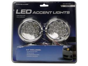 Pilot Automotive NV-2013X LED Accent Racing Light Round-White
