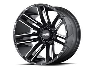 Moto Metal Wheels MMWMO97821080524N Razor 20 x 10 & 8 x 165.10 Black Wheel, -24 mm