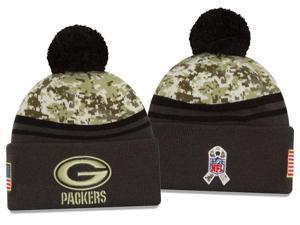 New Era NFL 2016-17 Salute to Services Digital Camo Knit Beanie Hat - Green Bay Packers