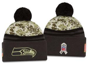 New Era NFL 2016-17 Salute to Services Digital Camo Knit Beanie Hat - Seattle Seahawks