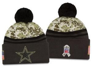 New Era NFL 2016-17 Salute to Services Digital Camo Knit Beanie Hat - Dallas Cowboys