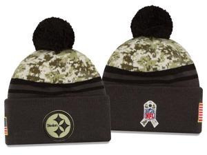New Era NFL 2016-17 Salute to Services Digital Camo Knit Beanie Hat - Pittsburgh Steelers