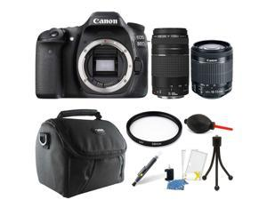 Canon EOS 80D 24.2MP Digital SLR Camera with Two Lenses + Top Accessory Kit