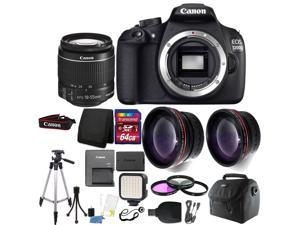 Canon EOS Rebel 1200D/T5 Digital SLR Camera with 64GB Top Accessory Bundle