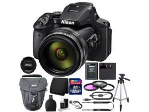 Nikon COOLPIX P900 Digital Camera + 67mm Filter Kit + 32GB Memory Card + Wallet + Card Reader + Camera Case + Tall Tripod + 3pc Cleanng Kit