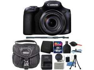 Canon PowerShot SX60 HS 16.1 Mp 65x Optical Zoom Digital Camera + 16GB Memory Card + Wallet + Reader + Dust Blower + Lens Pen + Camera Case + 3pc Cleaning Kit + Mini Tripod