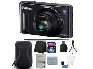 Canon PowerShot SX610 HS Digital Camera (Black) + 32GB Memory Card + Wallet + Card Reader + Camera Case  + Cleaning Kit + Small Tripod