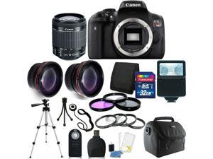 Canon EOS Rebel T6i DSLR Camera w/EF-S 18-55mm IS STM Lens + 32GB Accessory Kit