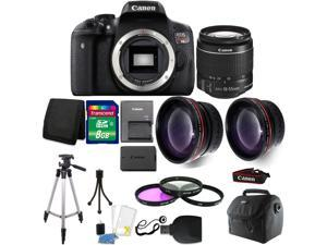 Canon EOS Rebel T6 DSLR Camera  + 18-55mm  + 58mm Filter Kit +  Wide Angle Lens + Telephoto Lens + 8GB Memory Card + Wallet + Reader Gadget Bag + Tall Tripod + 3pc Cleaning Kit + Small Tripod