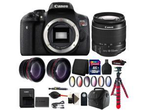 Canon EOS Rebel T6/1300D 18MP DSLR Camera with 18-55mm + Accessory Bundle