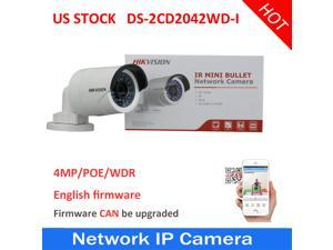 US STOCK Hikvision DS-2CD2042WD-I US Version Poe Bullet Outdoor Network IP Camera 6mm lens