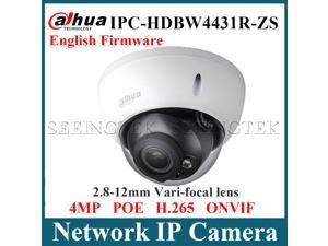 US Stock Dahua H2.65 IPC-HDBW4431R-ZS IP Camera 2.8mm ~12mm varifocal motorized lens 4MP IR50M with sd Card slot POE Network Ip Camera Vandalproof