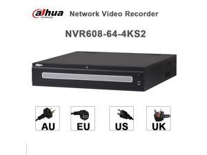 Dahua DH-NVR608-64-4K 64 Channel NVR HD 4K Super NVR Recorder for IP Cameras, Max 384Mbps incoming bandwidth, Up to 12MP, 8x Hot-Swap SATA ((NO HDD INSTALLED)