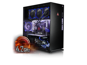 CybertronPC CLX Set High Performance Gaming PC-Liquid Cooled Intel i7 6850K 4.2GHz(Overclocked) 32GB DDR4 4TB HDD 480GB SSD NVIDIA GeForce GTX 1070 8GB MS Win 10  (VR Ready)