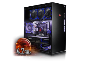 CybertronPC CLX Set High Performance Gaming PC-Liquid Cooled Intel i7 6900K 4.2GHz(Overclocked) 16GB DDR4 4TB HDD 480GB SSD DUAL NVIDIA GeForce GTX 1080 8GB in SLI MS Win 10  (VR Ready)