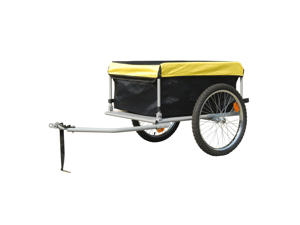 Bike Trailer with Cover 4.9 Cubic Feet