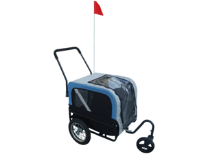 Blue Dog Bike Trailer with Jogger