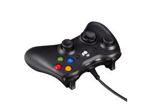 Black USB Wired Game Pad Controller for Microsoft Xbox 360 PC Windows New