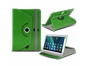 iTronixs - Asus MeMO Pad HD 7 (7 inch) Tablet Case PREMIUM PU 360 Rotating Leather Wallet Folio Faux 4 Springs Stand - Green