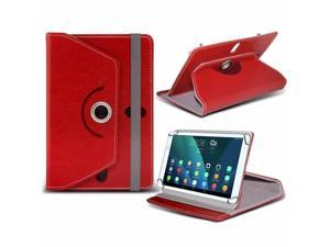 iTronixs - Asus MeMO Pad HD 7 (7 inch) Tablet Case PREMIUM PU 360 Rotating Leather Wallet Folio Faux 4 Springs Stand - Red