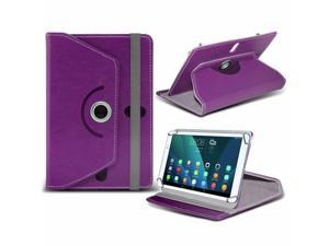 iTronixs - iBall Slide 4G Q27 (10.1 inch) Tablet Case PREMIUM PU 360 Rotating Leather Wallet Folio Faux 4 Springs Stand - Purple