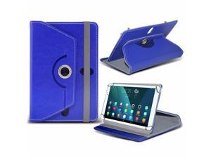 iTronixs - iBall Slide 4G Q27 (10.1 inch) Tablet Case PREMIUM PU 360 Rotating Leather Wallet Folio Faux 4 Springs Stand - Blue