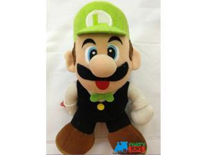 "Mario Brothers 8"" Plush Toy Stuffed Animal - Luigi Poker Player"
