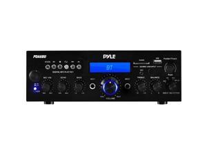 Pyle 200W (PDA6BU) Bluetooth Stereo Amplifier Receiver with Wireless Streaming, FM Radio, MP3/USB/SD Readers, Remote Control
