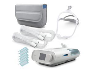 DREAMPACK-500 (Dreamstation Auto CPAP DSX500T11 w/ carrying case, Dreamwear Mask, 2 add'l tubes, 6 extra filters and bedside organizer)