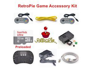 Raspberry Pi 3 Model B 32GB Preloaded RetroPie Game Console Accessories Kit