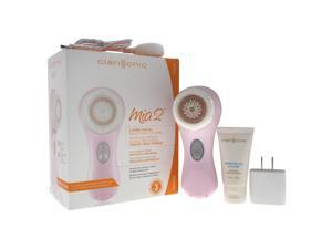 Clarisonic Mia 2 Facial Sonic Cleansing System - Pink Pink Mia 2, Universal Voltage Plink Charger, Sensitive Brush Head,