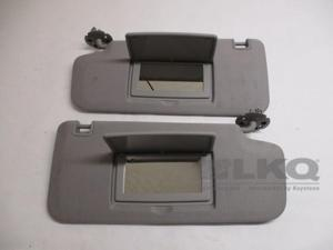 Chevrolet Trax Pair 2 Gray Cloth Sun Visors w/Mirrors OEM LKQ