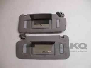 Chevrolet Equinox Terrain Pair 2 Gray Cloth Sun Visors w/Lights OEM LKQ