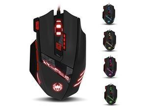 Zelotes T90 usb Gaming mice 9200 DPI 8 Buttons, Wired USB Gaming Mouse