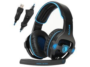 Sades SA903S USB Gaming Headset 7.1 Surround Sound  PC Gaming Headphone with Microphone Earmuff Headset
