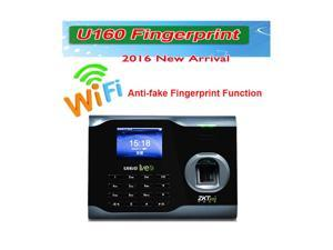 New Zksoftware Bio Office U160 Employee Entry Biometric Fingerprint Time Attendance System Punch Clock 3 Inches Color TFT Screen TCP/IP Ethernet Ports USB-Device RS232/485 Communication, Store 3200 Fi