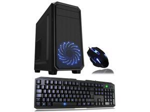 Cube Nexus Ultra Fast Quad Core ESport Ready Gaming PC Bundle with Radeon RX 550 2GB Graphics